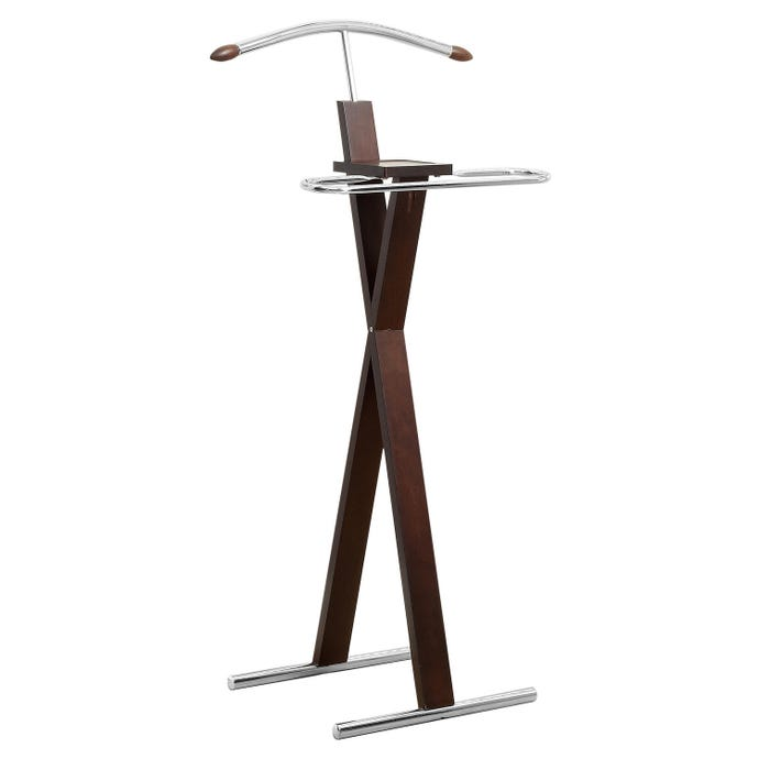 Chambre a coucher - valet - cappuccino / metal chrome