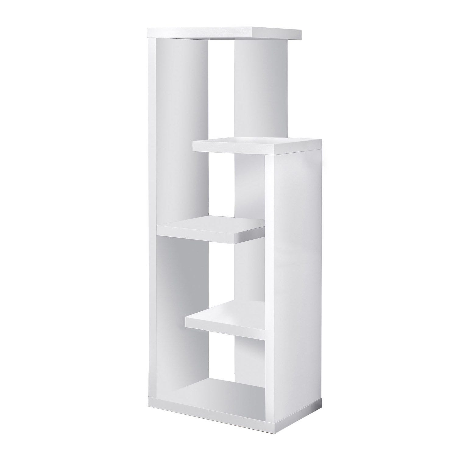 Bookcase 48 H White Accent Display Unit Rd Furniture