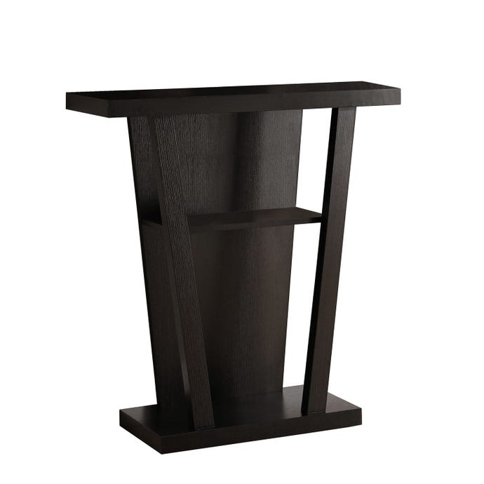 """Table d'appoint - 32""""l / console d'entree cappuccino"""