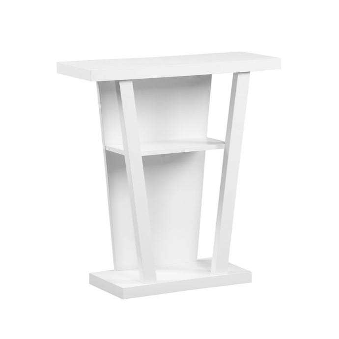 "Table d'appoint - 32""l / console d'entree blanche"