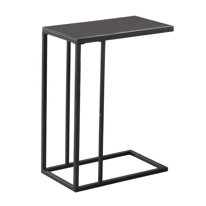 ACCENT TABLE - BLACK METAL / BLACK TEMPERED GLASS