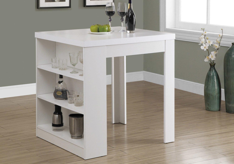 "Table a manger - 5""x 5"" / blanc hauteur comptoir"