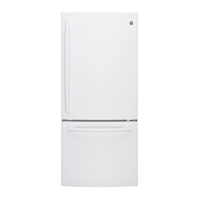 GE 20,8 cu ft 30 In refrigerator White Bottom Freezer - GDE21DGKWW