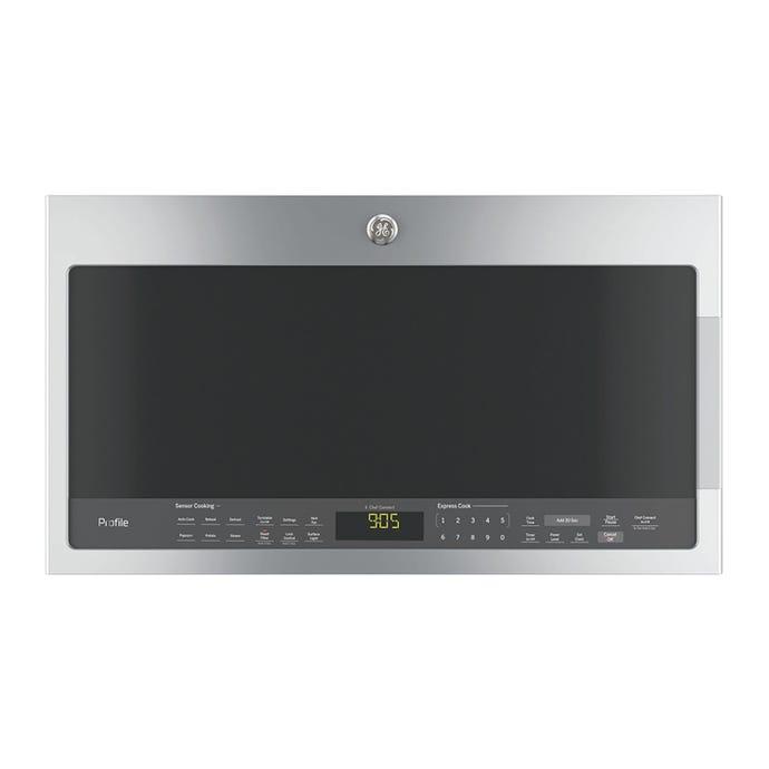 GE 2,1 cu ft microwave/Hood, StaInless, 30'', 1000 W, 400 pi3/mIn - PVM2188SJC
