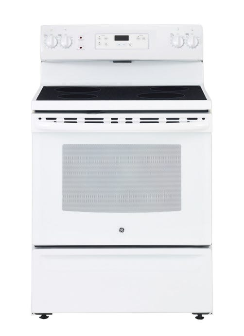 GE 30 In Range White Électrique Glass-Ceramic - JCBS630DKWW
