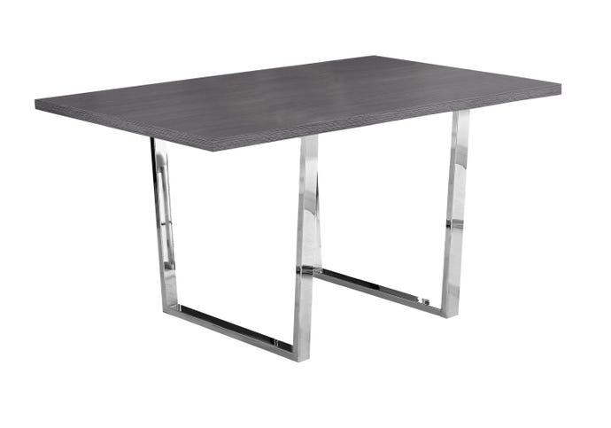 "Table a manger - 36""x 60 / gris / metal chrome"
