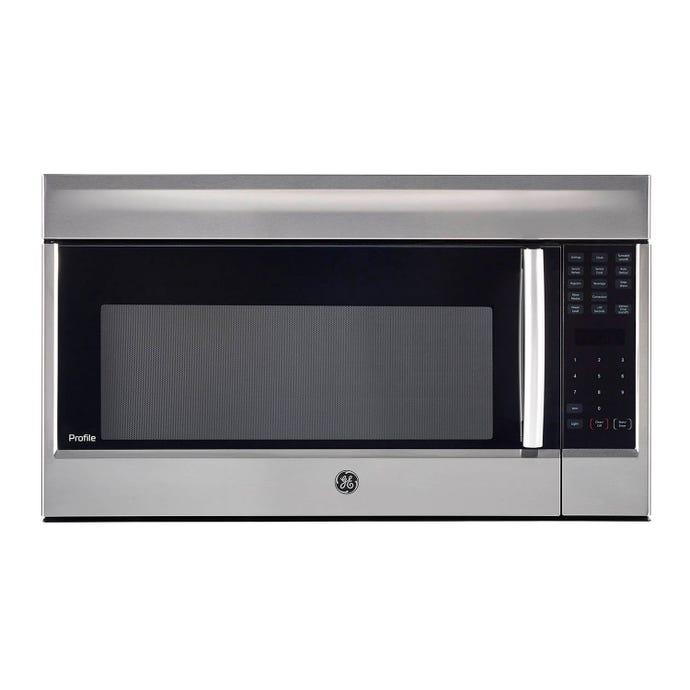 GE 1,8 cu ft microwave/Hood, StaInless, 30'', 1500 W, 400 pi3/mIn - PVM1899SJC