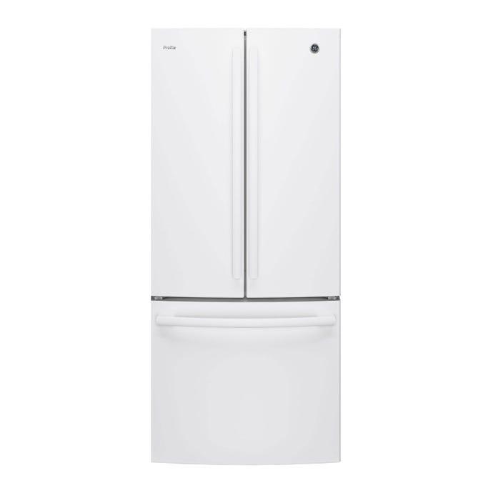 GE 20,8 cu ft 30 In refrigerator White Bottom Freezer, French door - PNE21NGLKWW