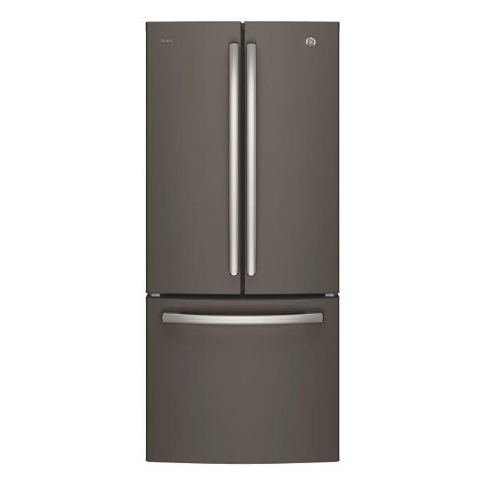 GE 20,8 cu ft 30 In refrigerator Slate Bottom Freezer, French door - PNE21NMLKES
