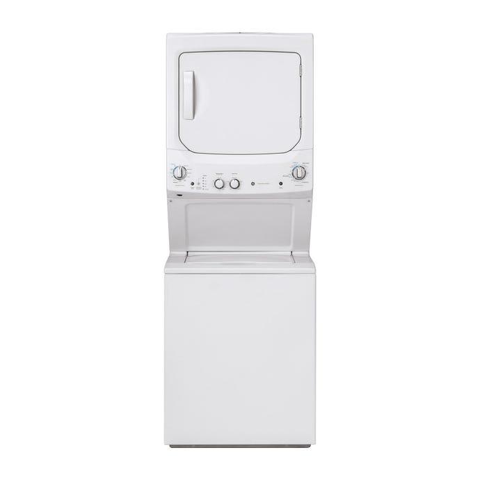 GE Spacemaker washer dryer, White, 27'', Top-Load, 3 - GUD27ESMMWW