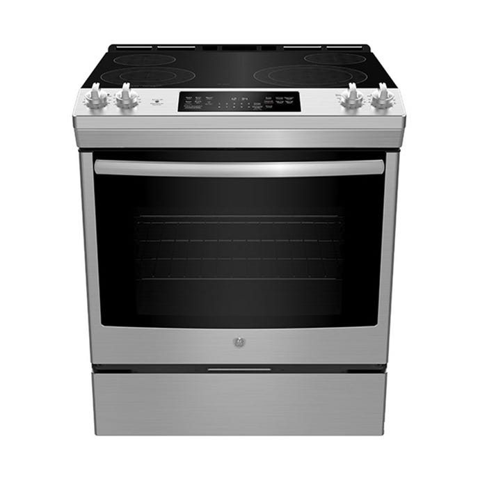GE 30 In slide-In Range StaInless Électrique Glass-Ceramic - JCS830SMSS