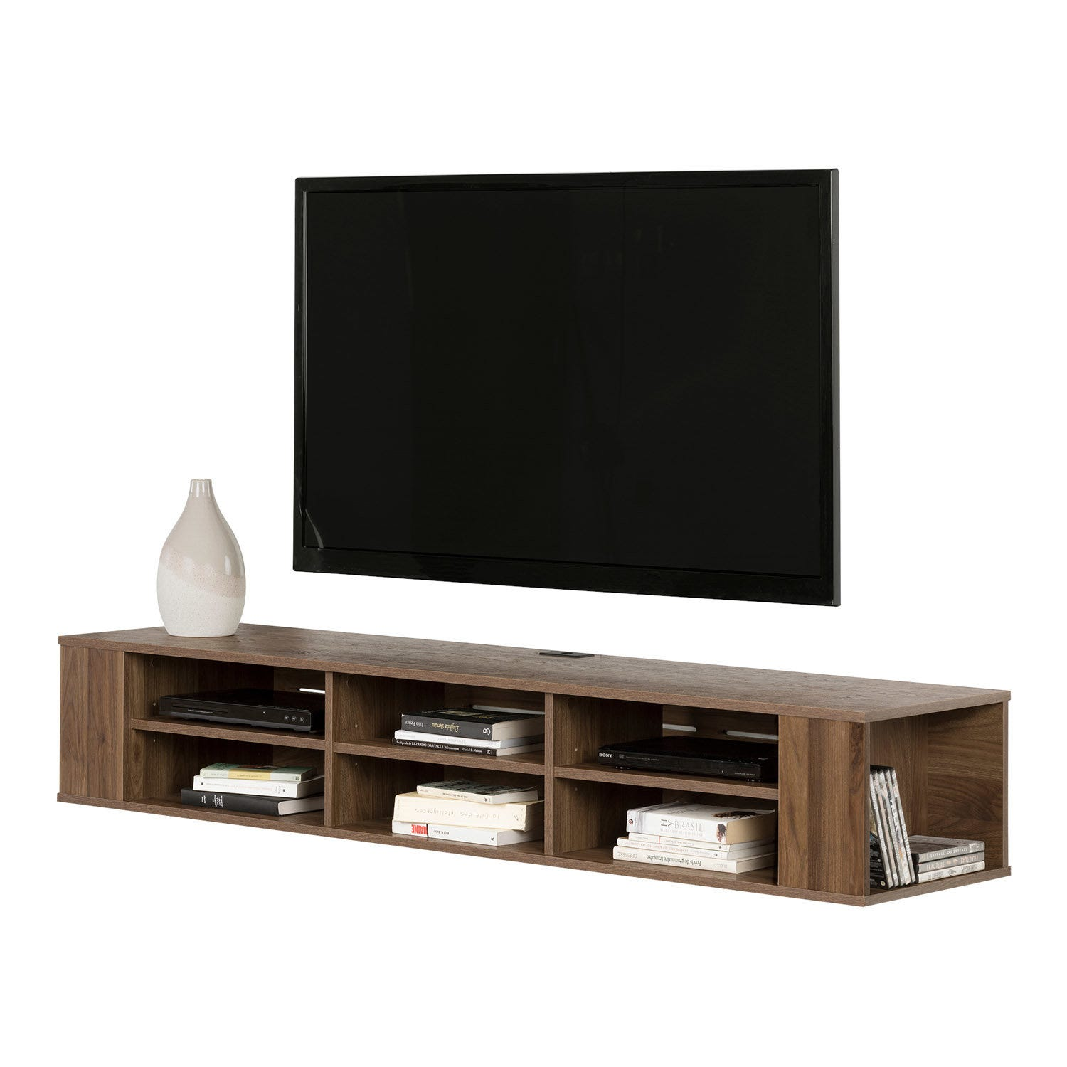 66 Wide Wall Mounted Media Console Rd Furniture