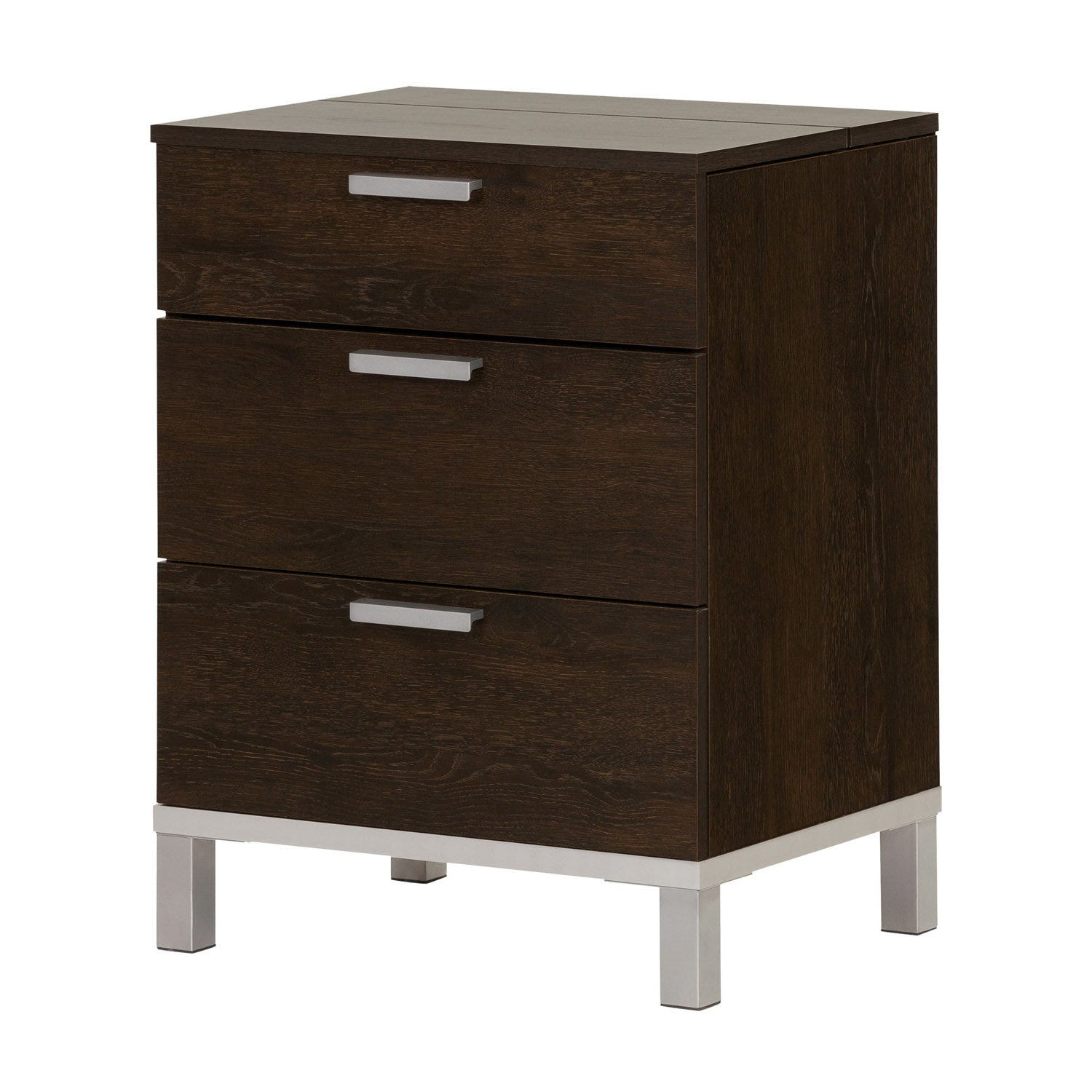Meubles South Shore Nightstand With Charging Station And Drawers