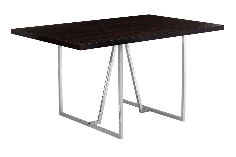 "Rehausser Une Table De Salle A Manger table a manger - 36""x 60"" / cappuccino / metal chrome"