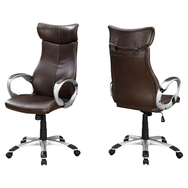 Chaise simili de dossier brun bureau executif cuir NwnPymv80O