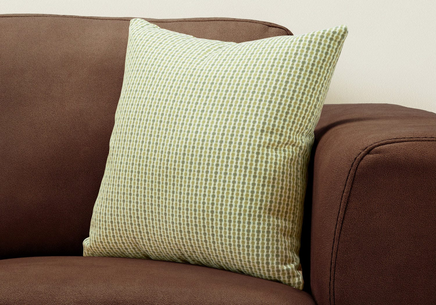 Pillow 18 X 18 Light Dark Green Abstract Dot 1pc