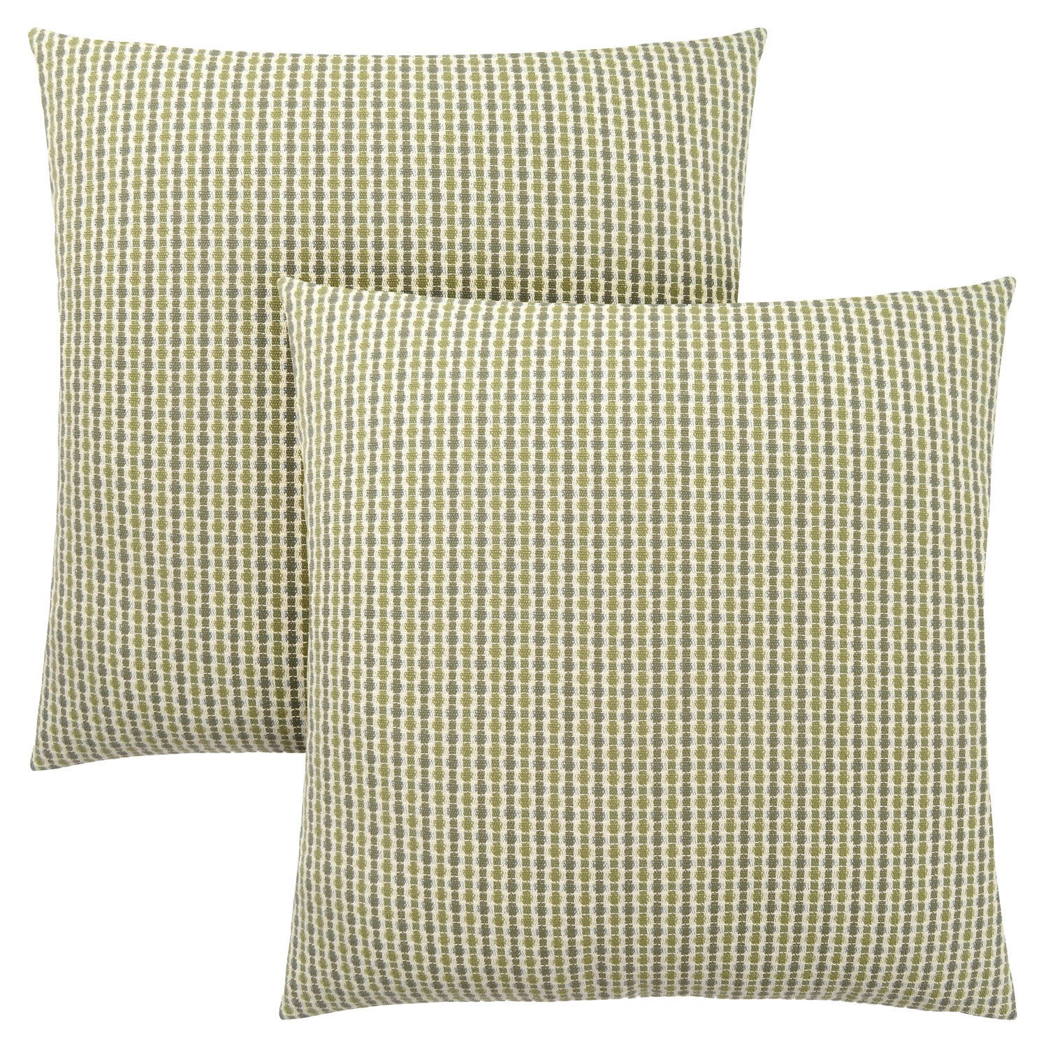Pillow 18 X 18 Light Dark Green Abstract Dot 2pcs