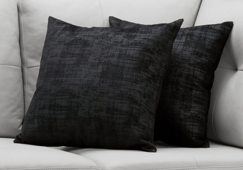 Pillow 18 X 18 Black Brushed Velvet 2pcs