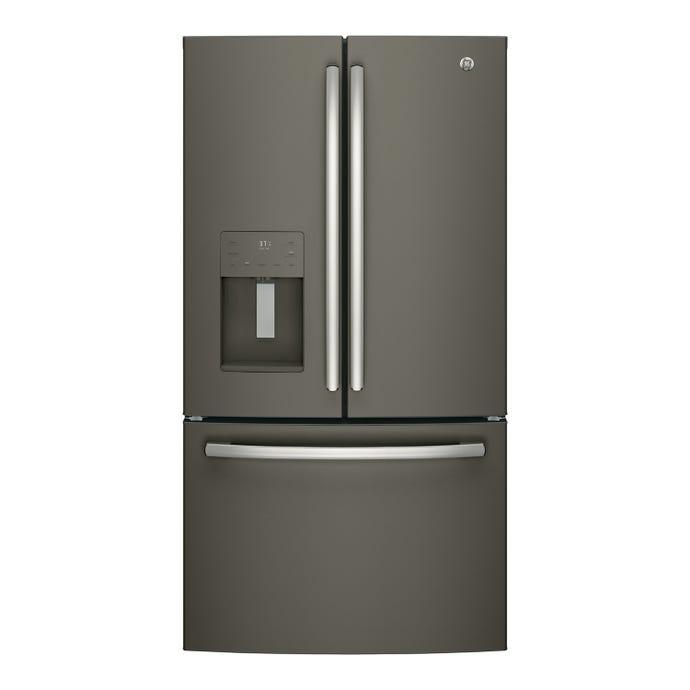 GE 25,5 cu ft 36 In refrigerator Slate Bottom Freezer, French door - GFE26JMMES