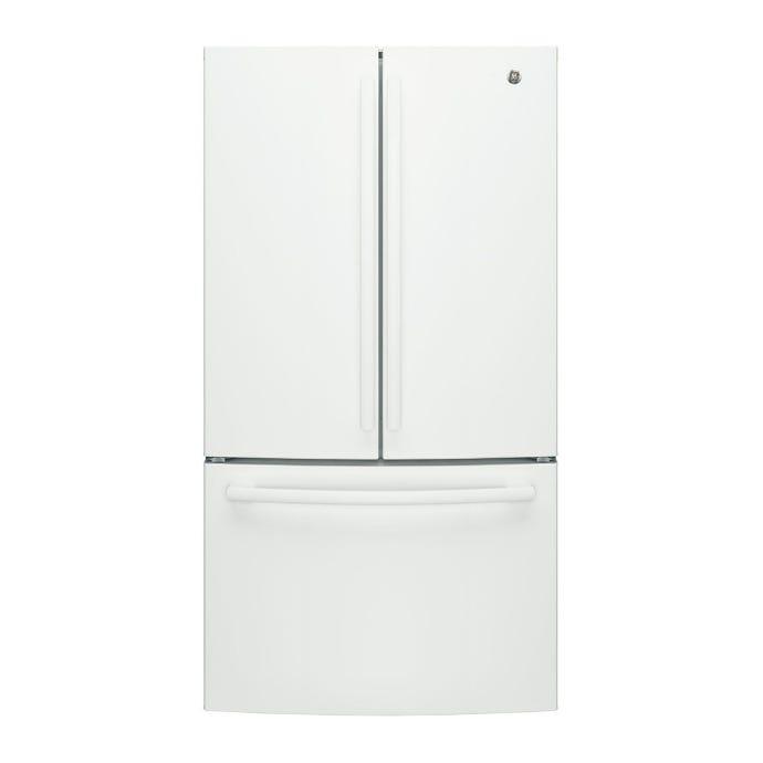 GE 26,7 cu ft refrigerator White Bottom Freezer, French door - GNE27JGMWW