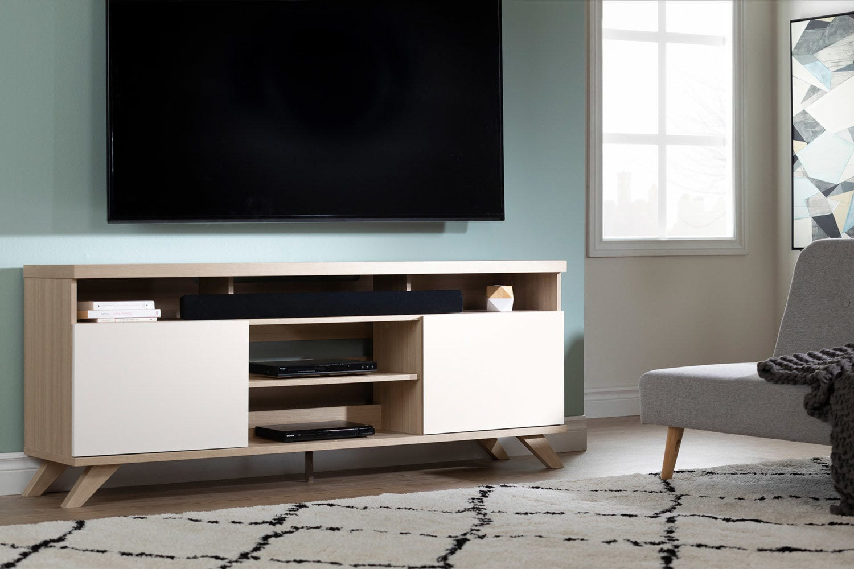 """Panneau Mural Derriere Tv meuble tv scandinave 75"""""""
