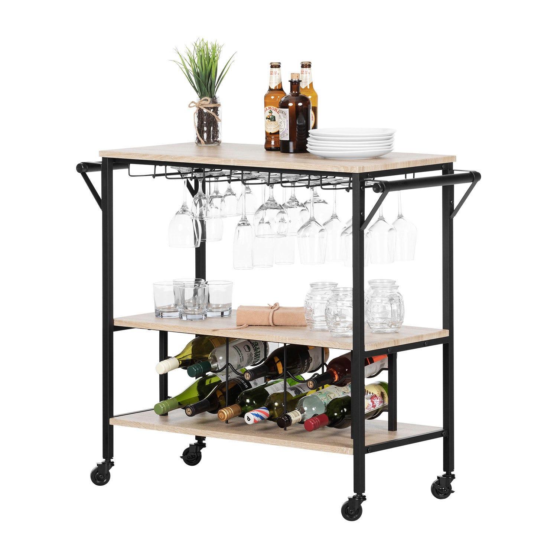 Table Haute Avec Rangement chariot bar avec rangement