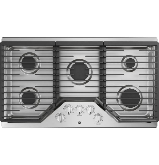 GE Cooktop  StaInless 36'' Gaz   StaInless - JGP5036SLSS