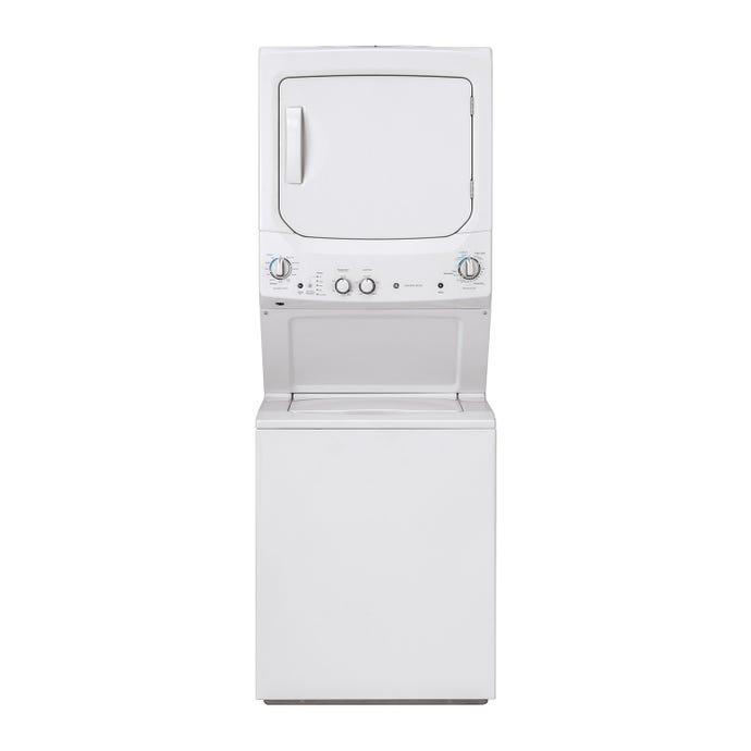 GE Spacemaker washer dryer, White, 24'', Top-Load - GUD24ESMMWW
