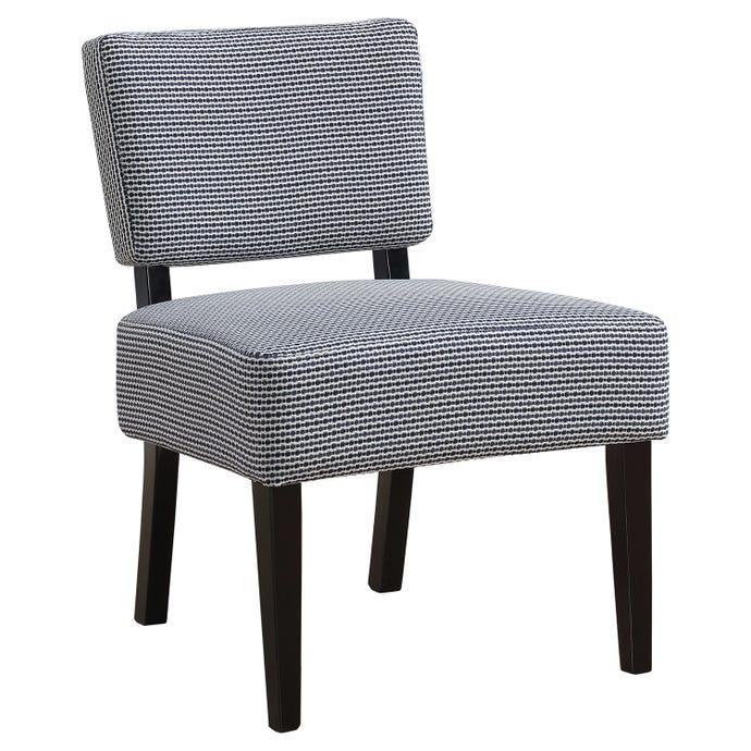 Chaise d'appoint - tissu motif a pois bleu fonce / pale