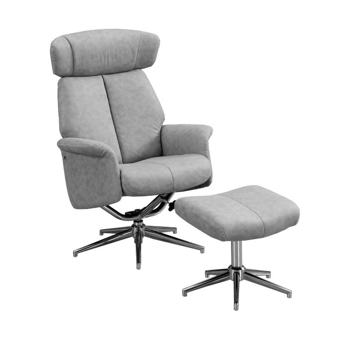 Fauteuil inclinable - 2pcs / pivot gris - tete ajustable