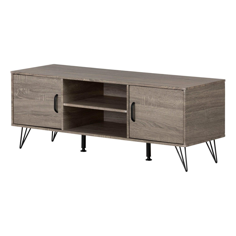 Meuble Tv Avec Portes Pour Tv Jusqu A 55