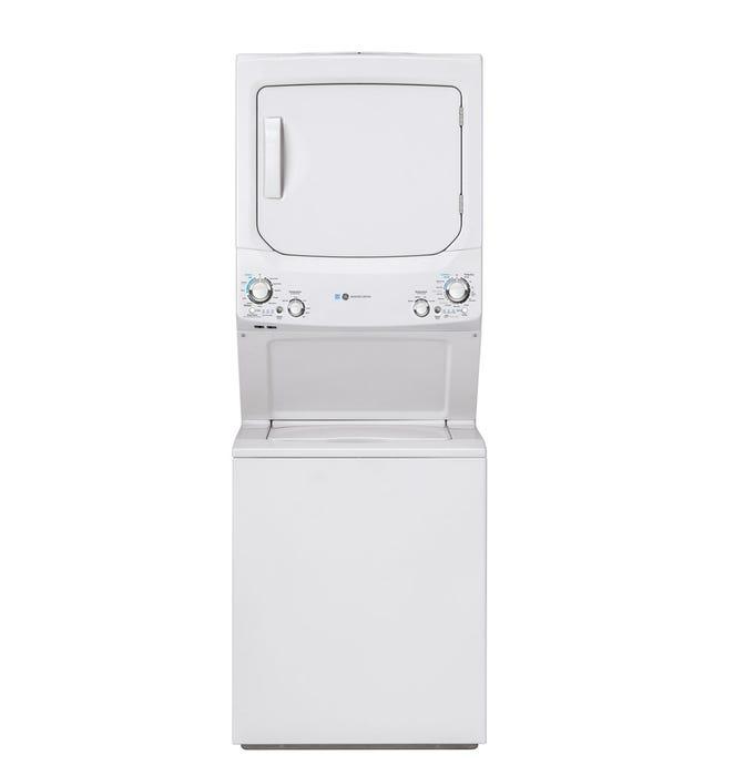 GE Spacemaker washer dryer, White, 27'', 800 RPM - GUD27EEMNWW