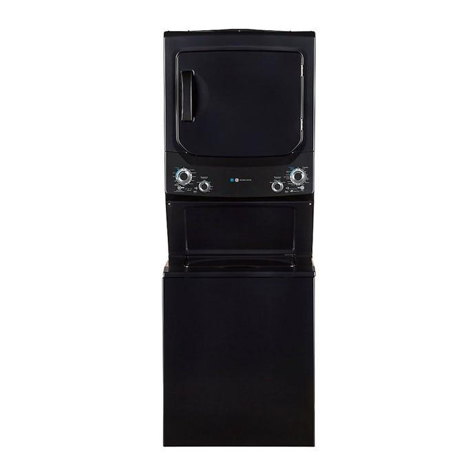 GE Spacemaker washer dryer, Grey, 27'', 800 RPM - GUD37EEMNDG