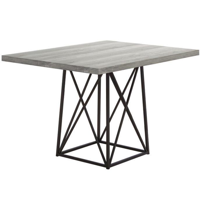"DINING TABLE - 36""X 48"" / GREY RECLAIMED WOOD-LOOK/ BLACK"