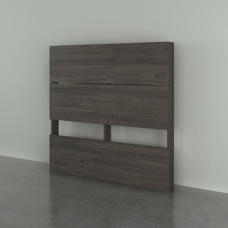 Planche Pour Tete De Lit nexera 363844 tete de lit simple effet de planches, gris ecorce