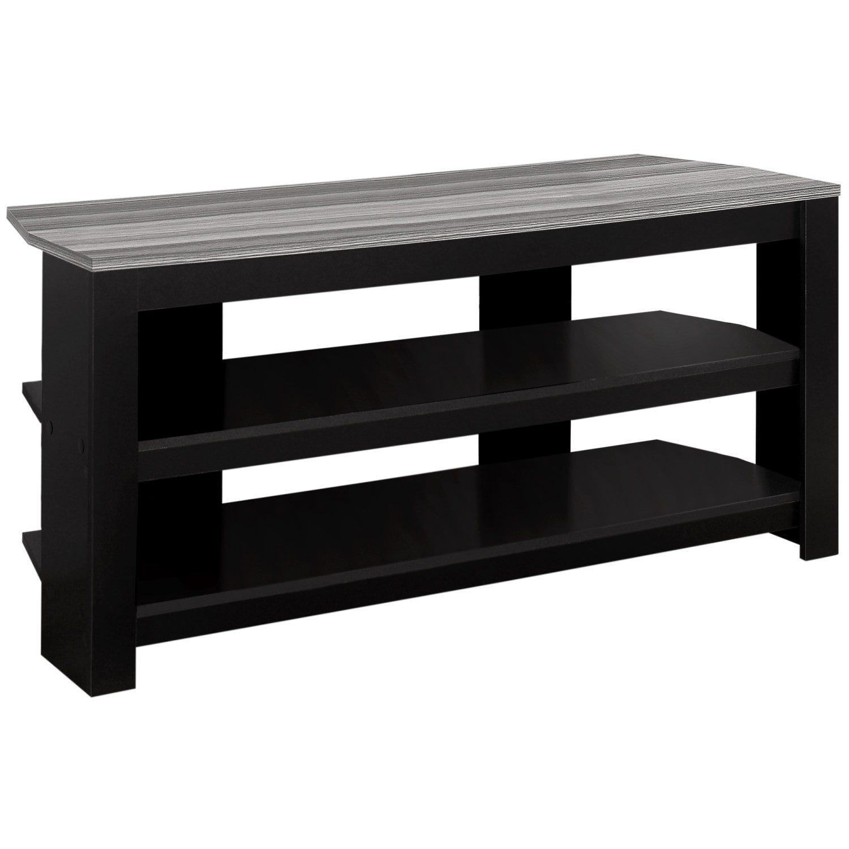"Meuble Tv Pour Coin meuble tv - 42""l / en coin noir / dessus gris"