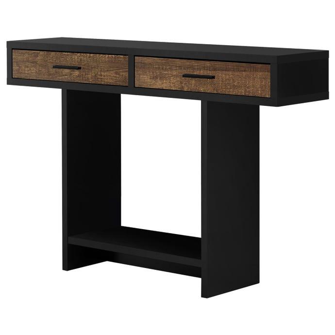 Table D Appoint 48 L Noir Faux Bois Brun Tiroirs Meubles Rd