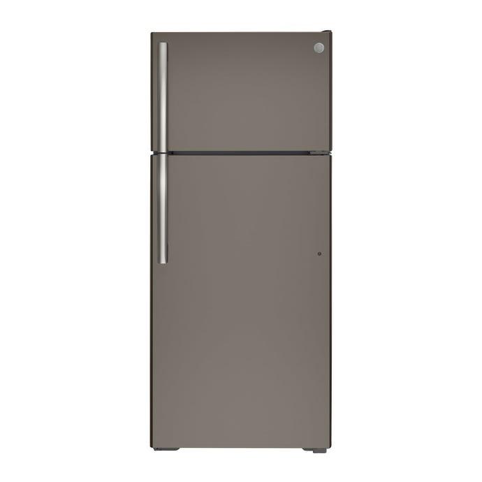 GE 30 In 17.5 cu ft refrigerator Slate Top Freezer - GTE18GMNRES