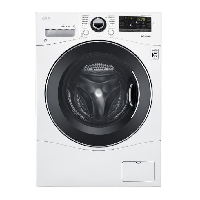 LG All-in-one Washer/Dryer, White, 24'', Front-Load, 1 400 RPM - WM3488HW