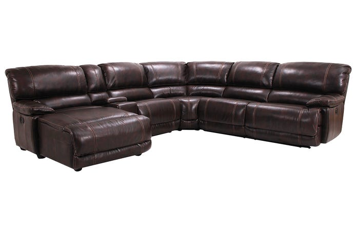 6-Piece Reclining Sectional - Left-Hand Side Lounger