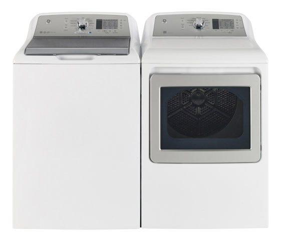 GE Washer Dryer Set, White