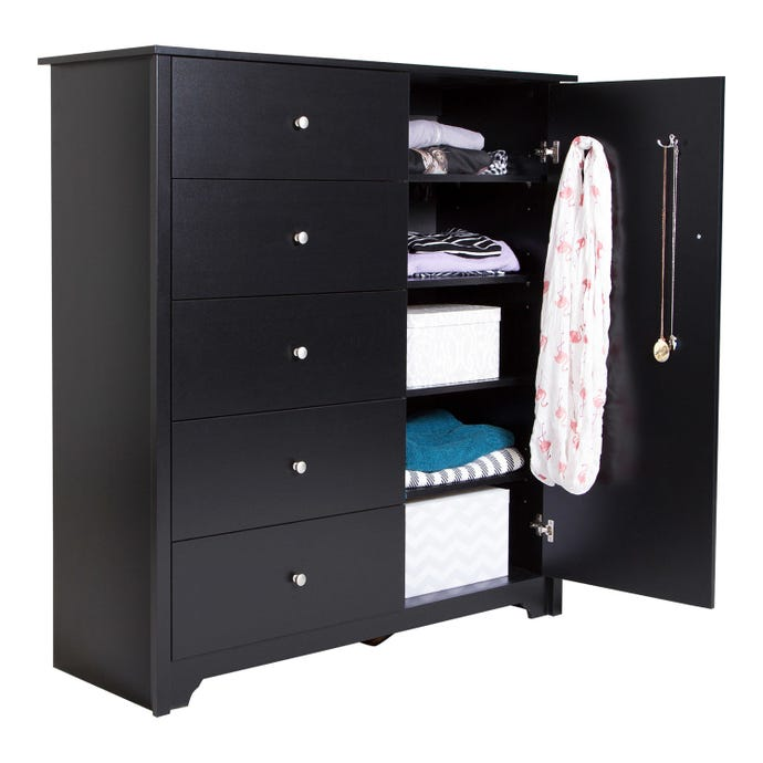 DOOR CHEST WITH 5 DRAWERS