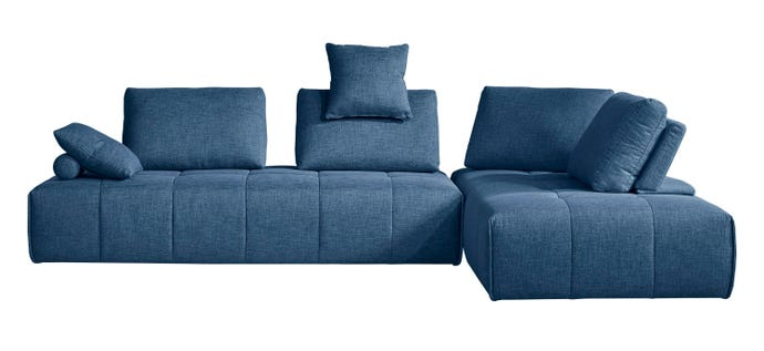 Sectional consisting of 2 armless loveseats