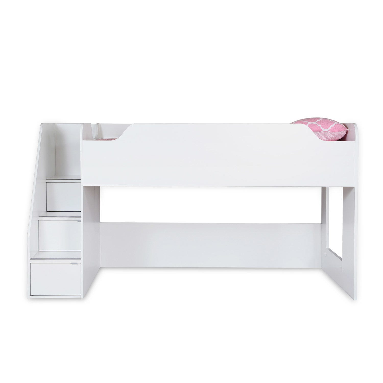 """Lit Superposé Marche Escalier lit mezzanine simple (39"""") avec escalier"""