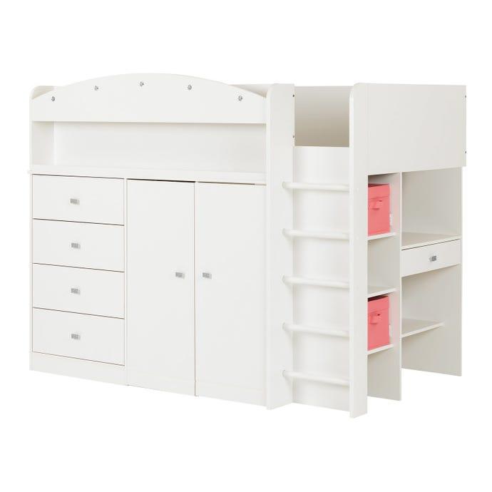 Lit mezzanine simple avec bureau 39''