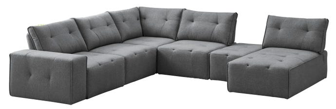 7-piece sectional with chaise longue