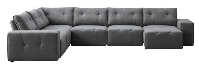 8-piece sectional with chaise longue