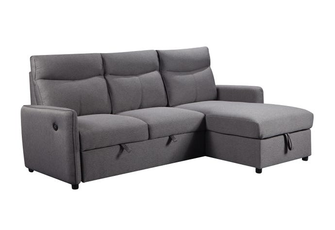 Reversible sectional with USB jack