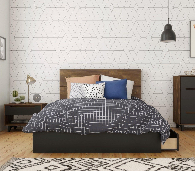 Liberia 3 Piece Full Size Bedroom Set Truffle Black Rd Furniture