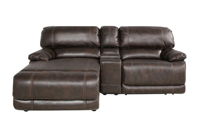 3-Piece Reclining Sectional - Left-Side chaise & console
